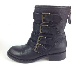 Marc by Marc Jacobs Biker Buckle Boots 7.5